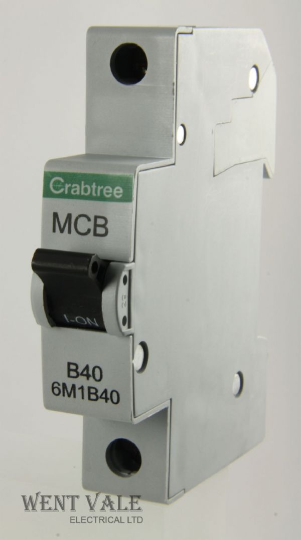 Crabtree Loadstar - 6M1B40 - 40a Type B Single Pole MCB Unused